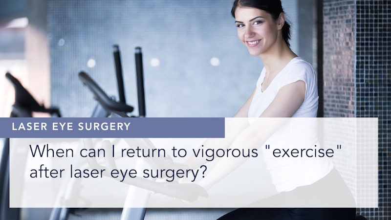 When can I return to vigorous exercise after laser eye surgery alex shortt london